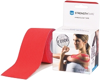 StrengthTape Kinesiology Tape 5M Uncut Roll - Red
