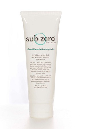 Sub Zero Cool Pain Relief Gel - 4oz Tube
