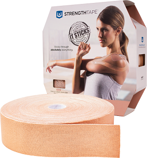 StrengthTape Kinesiology Tape 35M Roll - Beige