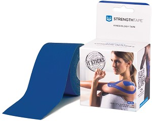 StrengthTape Kinesiology Tape 5M Uncut Roll - Royal Blue