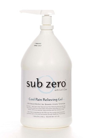 Sub Zero Cool Pain Relief Gel - Gallon Jug with Pump